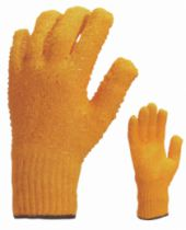 Gants tricotés : 65% polyester - 35% coton