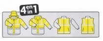 Vêtement de travail : Parka Hiway classe III avec gilet matelassé classe II