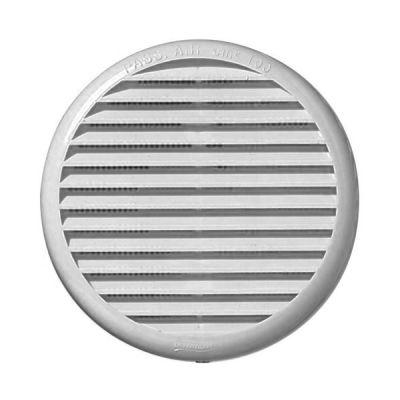 Blanc Grille da/ération ronde Grille da/ération en plastique 75 mm 125 mm